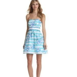 LILLY PULITZER Langley Shorely Strapless Dress